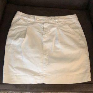 Lacoste white denim skirt!